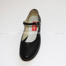 Туфли женские для народных танцев чёрные OD-01-001-03
