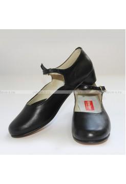 Туфли женские для народных танцев чёрные