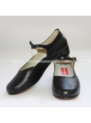 Туфли женские для народно-характерного танца чёрные
