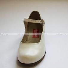 Туфли женские для народных танцев белые OD-01-003-03