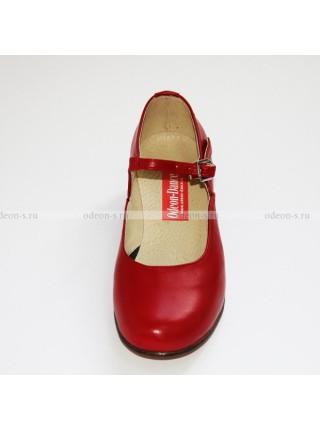 Туфли женские для народных танцев красные
