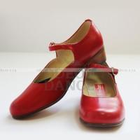 Туфли женские для народно-характерного танца красные