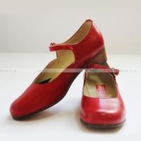Туфли женские для народных танцев красные OD-01-002-03