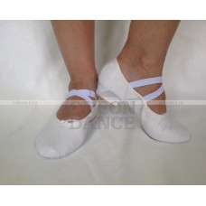 Балетки для танцев на каблуке белые