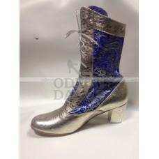 Сапоги для Снегурочки синие с серебром