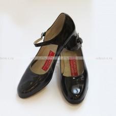 Туфли Фламенко черные лаковые