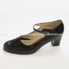 Туфли для фламенко черные лаковые