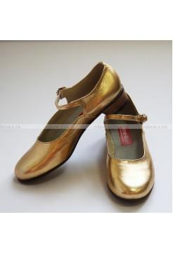 Туфли для народных танцев, женские - золотые