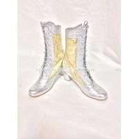 Сапоги для Снегурочки серебряные с золотом