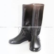 Сапоги мужские для народных танцев черные OD-02-001-02