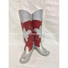 Сапоги Деда Мороза красные с серебром