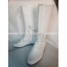 Сапоги для народных танцев мужские белые OD-02-003-02