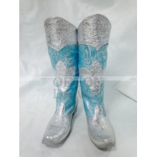 Сапоги для снегурочки серебром